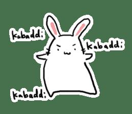 Kabaddi rabbit sticker #687746