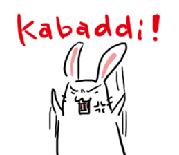 Kabaddi rabbit sticker #687747