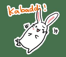 Kabaddi rabbit sticker #687749
