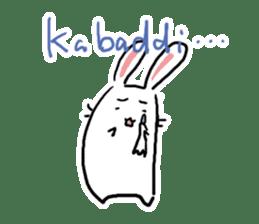 Kabaddi rabbit sticker #687750
