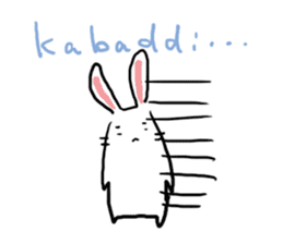Kabaddi rabbit sticker #687752