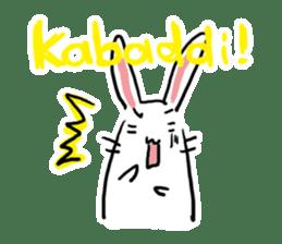 Kabaddi rabbit sticker #687753