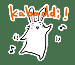 Kabaddi rabbit sticker #687754