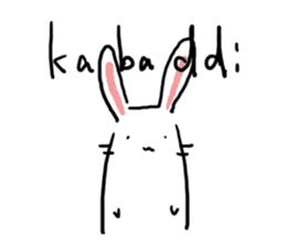 Kabaddi rabbit sticker #687755