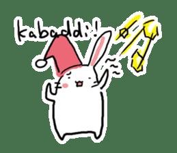 Kabaddi rabbit sticker #687761
