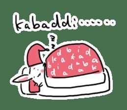 Kabaddi rabbit sticker #687764