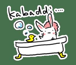 Kabaddi rabbit sticker #687765