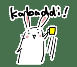 Kabaddi rabbit sticker #687766