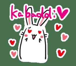 Kabaddi rabbit sticker #687769