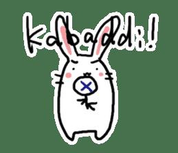 Kabaddi rabbit sticker #687777