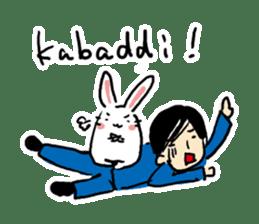 Kabaddi rabbit sticker #687779