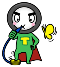 Tire-Korokoro-Man sticker #688228