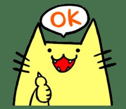 Yellow cat sticker #688948