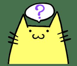 Yellow cat sticker #688949