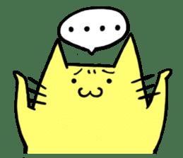 Yellow cat sticker #688952