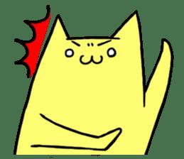 Yellow cat sticker #688955