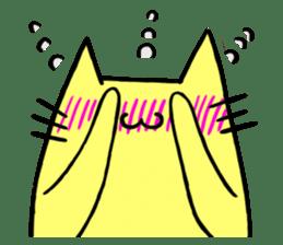 Yellow cat sticker #688956