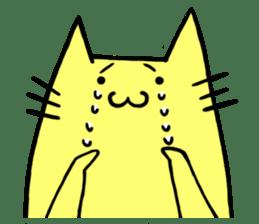 Yellow cat sticker #688957