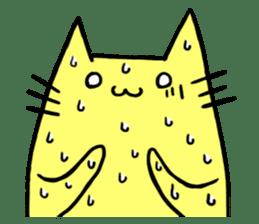 Yellow cat sticker #688960