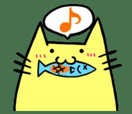 Yellow cat sticker #688961