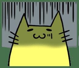 Yellow cat sticker #688962