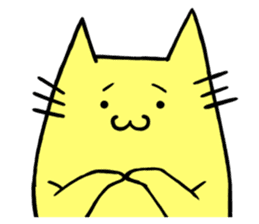 Yellow cat sticker #688965