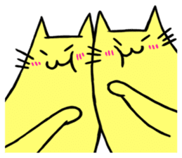 Yellow cat sticker #688974
