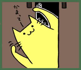 Yellow cat sticker #688976