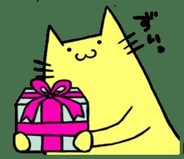 Yellow cat sticker #688977