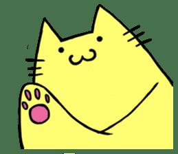 Yellow cat sticker #688979