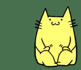 Yellow cat sticker #688980