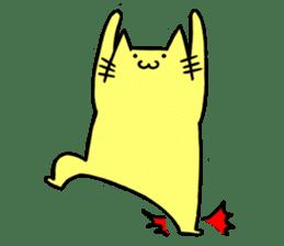 Yellow cat sticker #688983