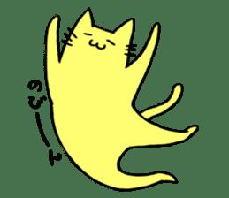 Yellow cat sticker #688984