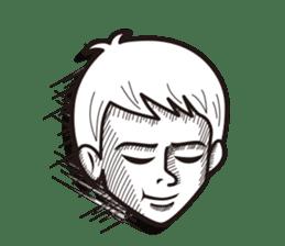 Face reaction  Man version sticker #689192