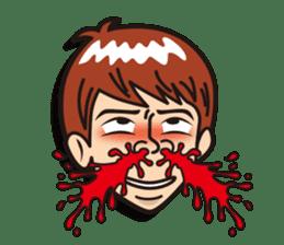 Face reaction  Man version sticker #689207