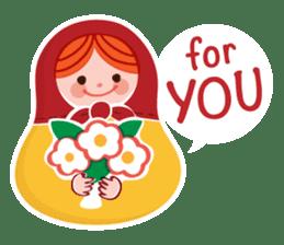 Little Matryoshka sticker #698216