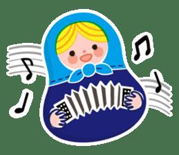 Little Matryoshka sticker #698225