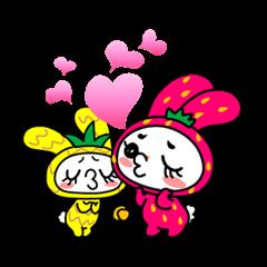 """Strawberry Rabbit """"Uppy!!"""""""