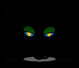 kuri kuru-kun of the black cat sticker #704155