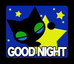 kuri kuru-kun of the black cat sticker #704157