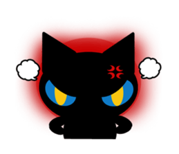 kuri kuru-kun of the black cat sticker #704160
