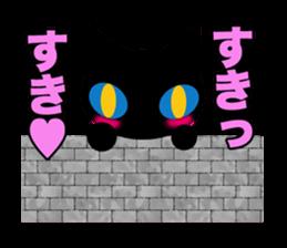 kuri kuru-kun of the black cat sticker #704169