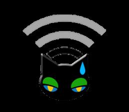 kuri kuru-kun of the black cat sticker #704174