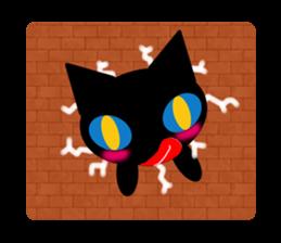 kuri kuru-kun of the black cat sticker #704187