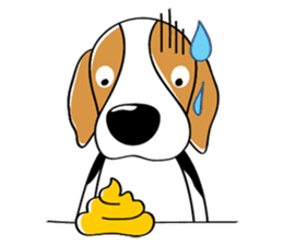Toffee The Beagle sticker #709792