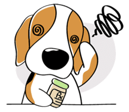 Toffee The Beagle sticker #709793