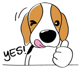 Toffee The Beagle sticker #709798