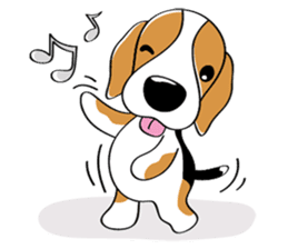 Toffee The Beagle sticker #709803