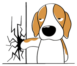 Toffee The Beagle sticker #709807
