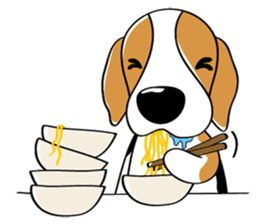 Toffee The Beagle sticker #709813